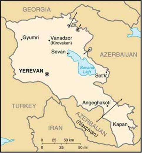 Arménsko a Nachičevan. Zdroj www.yenidenergenekon.com