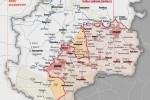 Hranice území s osobitným postavením v porovnaní s reálnou kontaktnou líniou. Zdroj: www.vesti-ukr.com
