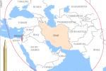 Zóna doletu rakiet Shahab-3 z územia Iránu. Zdroj: http://blog.reidreport.com/