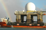 SBX radar USA - Pearl Harbour. Zdroj: Defense Industry Daily