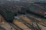 Vagóny s uhlím v Debaľceve v Doneckej oblasti. Zdroj: www.bigmir.net