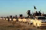 Kolóna džípov ISIL. Zdroj: www.alalam.ir