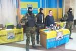 Aktivisti združenia Vec verejná obsadili budovu Ústrednej volebnej komisie. Zdroj: www.liga.net