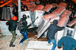 Demonštranti na protestoch v Kyjeve. Zdroj: vz.ru