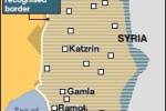 Golanské výšiny a izraelské osady. Zdroj: http://www.bbc.co.uk