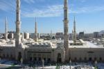 Mešita Masjid al-Nabawi, Medina, Saudská Arábia. Zdroj: Wikipedia.