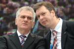 Tomislav Nikolić a Aleksandar Vučić. Zdroj: www.media1.rs