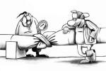 Karikatúra na tému prerušenia dodávok plynu. Zdroj: www.caricatura.ru