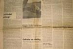 Vydanie komunistického denníka Pravda zo 17.11.1989