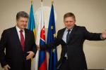 Predseda vlády SR Robert Fico a prezident Ukrajiny Petro Porošenko počas stretnutia na Úrade vlády SR. Zdroj: www.pravda.sk