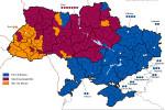 Politická mapa Ukrajiny po parlamentných voľbách 2006. Zdroj: WIkipedia