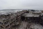 Pohľad na zničené donecké letisko. Zdroj: Russia 24