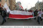 Protestný pochod priaznivcov bieloruskej opozície v uliciach Minska. Zdroj: www.svaboda.org