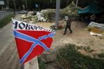 Kontrolný bod povstalcov v Donecku. Zdroj: praestes.ru
