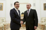 Grécky premiér Alexis Tsipras a ruský prezident Vladimir Putin. Zdroj: www.independent.co.uk