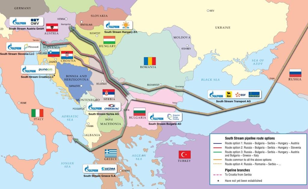 Názov: Investičná štruktúra projektu Južný prúd k 15. 11. 2012. Zdroj: Offshore Energy Today.com