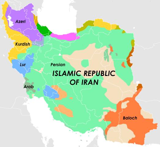 Etnická mapa Iránu. Zdroj: www.arsenalfordemocracy.com