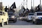 Kolóna vozidiel Islamského štátu. Zdroj: alarab24.com