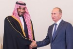 Saudský korunný princ Mohammad Bin Salman a prezident Ruskej federácie Vladimír Putin. Zdroj: www.alriyadh.com