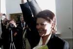 Líderka štátom neuznávaného Zväzu Poliakov v Bielorusku Anželika Borys po svojom znovuzvolení v marci 2009. Zdroj: http://www.naviny.by