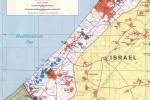 Pásmo Gazy s vysokou podporou hnutiu Hamas. Mapa – zdroj: http://www.lib.utexas.edu