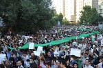 Povolebné protesty v uliciach Teheránu. Zdroj: http://www.wikipedia.org
