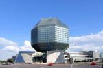 Budova národnej knižnice v Minsku