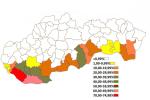Podiel obyvateľov maďarskej národnosti v okresoch SR z roku 2011. Zdroj: www.hks.re