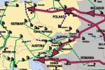 Ropná mapa strednej Európy
