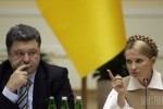 Porošenko a Timošenková. Zdroj: www.unian.net